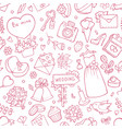 wedding seamless pattern background with vector image vector image