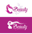 womans hair style stylized silhouette set vector image