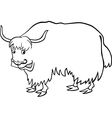 yak for coloring vector image vector image