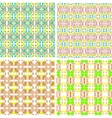 Collection of four seamless decorative patterns vector image