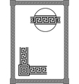 frame with ancient greek meander pattern vector image