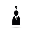 idea with people icon vector image