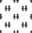 girl and boy seamless pattern vector image