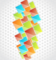 Abstract creative background with colorful square vector image vector image
