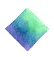 abstract emerald green purple and blue square vector image vector image
