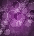Abstract purple background with circles vector image vector image