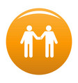 agreement icon orange vector image
