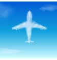 Airplane Cloud vector image