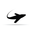 airplane symbol for ticket vector image vector image