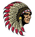 american native chief vector image