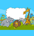 animal characters background vector image vector image