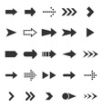 Arrow icons on white background vector image vector image