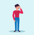 asthma patient flat character vector image vector image