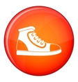 Athletic shoe icon flat style vector image vector image