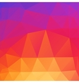beautiful color abstract polygonal background vector image