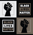 black lives matter square message emblem stickers vector image vector image