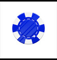 blue casino chip cartoon style isolated vector image vector image