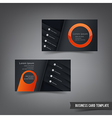 Business Card template set 029 orange and dark vector image vector image