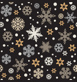 christmas seamless pattern with silver and gold vector image