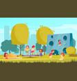 city park kids composition vector image