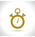 color flat stopwatch icon vector image vector image
