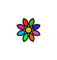 colorful floral logo design flower painted vector image vector image