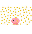 concept crypto currency piggy bank with vector image vector image