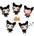 Cute funny kitten set