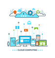 digital cloud computing computer data storage vector image vector image