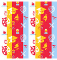 digital red and blue school icons set vector image vector image
