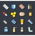 Drugs or medicine Pills capsules mixture vector image vector image