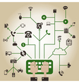 Electronics a network vector image vector image