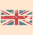 england flag with grunge effect vector image vector image