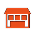 exterior house isolated icon vector image vector image