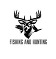fishing and hunting vector image