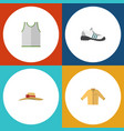 flat dress set of sneakers elegant headgear vector image vector image