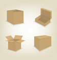 Flat icons of cardboard boxes