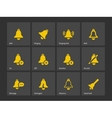 Flat ringing bell icons vector image vector image