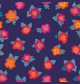 floral seamless pattern flower background garden vector image vector image