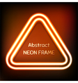 Glowing neon triangle frame vector image vector image
