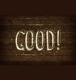 good typography font vector image vector image