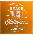 Halloween Typographic Template vector image