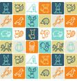 hand drawn icons set - animals 1 vector image vector image