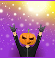 happy halloween hipster party background vector image