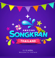 happy songkran thailand festival water colorful vector image vector image