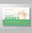 honey label template abstract packaging vector image