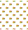 House with garage pattern cartoon style vector image vector image