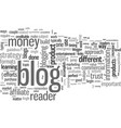 how to blog for money vector image vector image