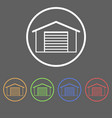 icons for garage doors vector image