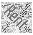 Investors How To Buy a House For Your Rent To Own vector image